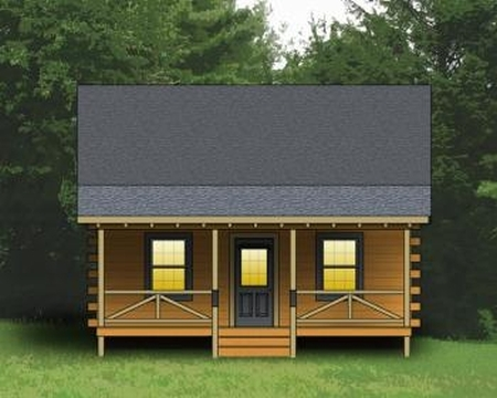 Plan 154 00001 2 Bedroom 1 Bath Log Cabin Plan