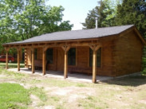 Hunting Cabin Kit- 3 Bedroom Log Cabin Plan