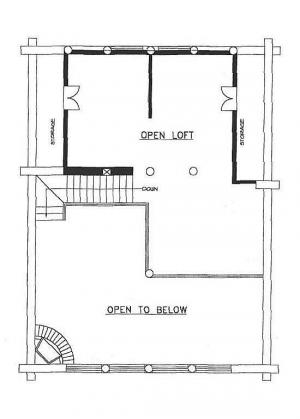 plan 039-00010 4 bedroom 2 bath log home plan
