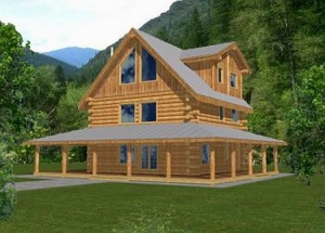 Plan 039 00047 4 Bedroom 2 5 Bath Log Home Plan