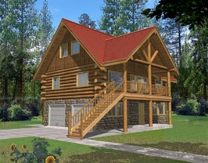Americas Best House Plans A bedroom with itu0027s own bath on each level gives everyone privacy and there is room for a shop area in the basement. & Log Home Plans - Log Cabin Plans Search