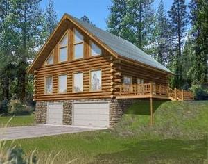3 bedroom log cabin house plans