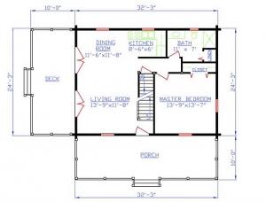 Plan 154 00006 2 bedroom 1 5 bath log home plan for 5 bedroom log home plans