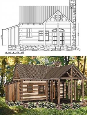 Plan W13328ww 1 Bedroom 1 Bath Log Cabin Plan