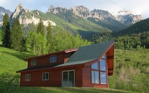 small cedar home plans. Cedar Homes of the Rockies A 3 bedroom  2 bath house plan that is not too large small The great room features prow windows so Log Home Plans Cabin Search