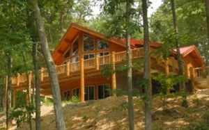 Daylight basement log home plans