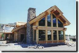 Handcrafted Log Home Photo